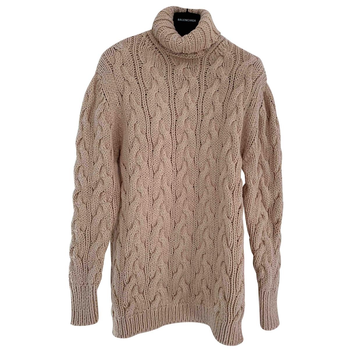 Balenciaga - Pull   pour femme en coton - beige