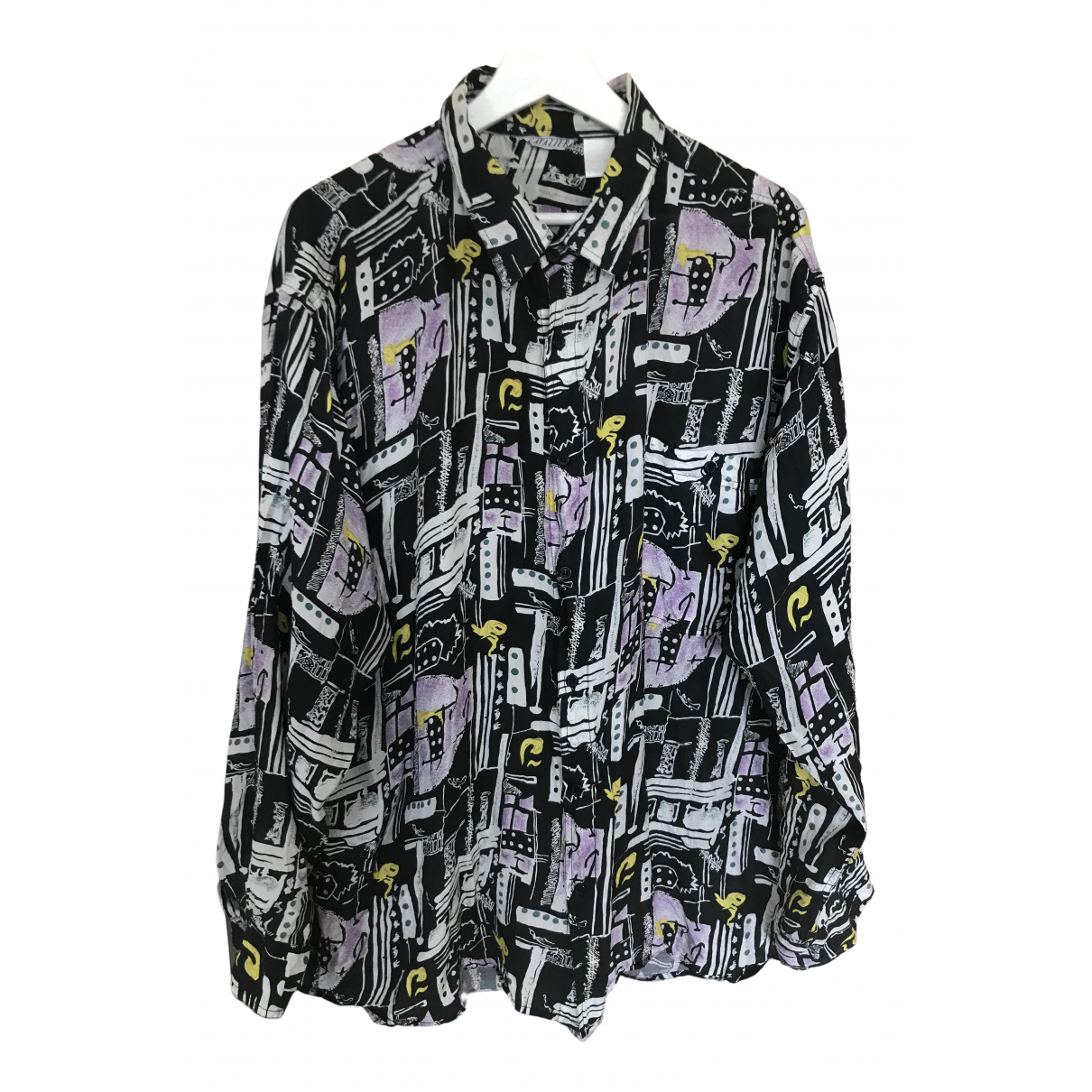 Non Signé / Unsigned Oversize Black Shirts for Men XL International