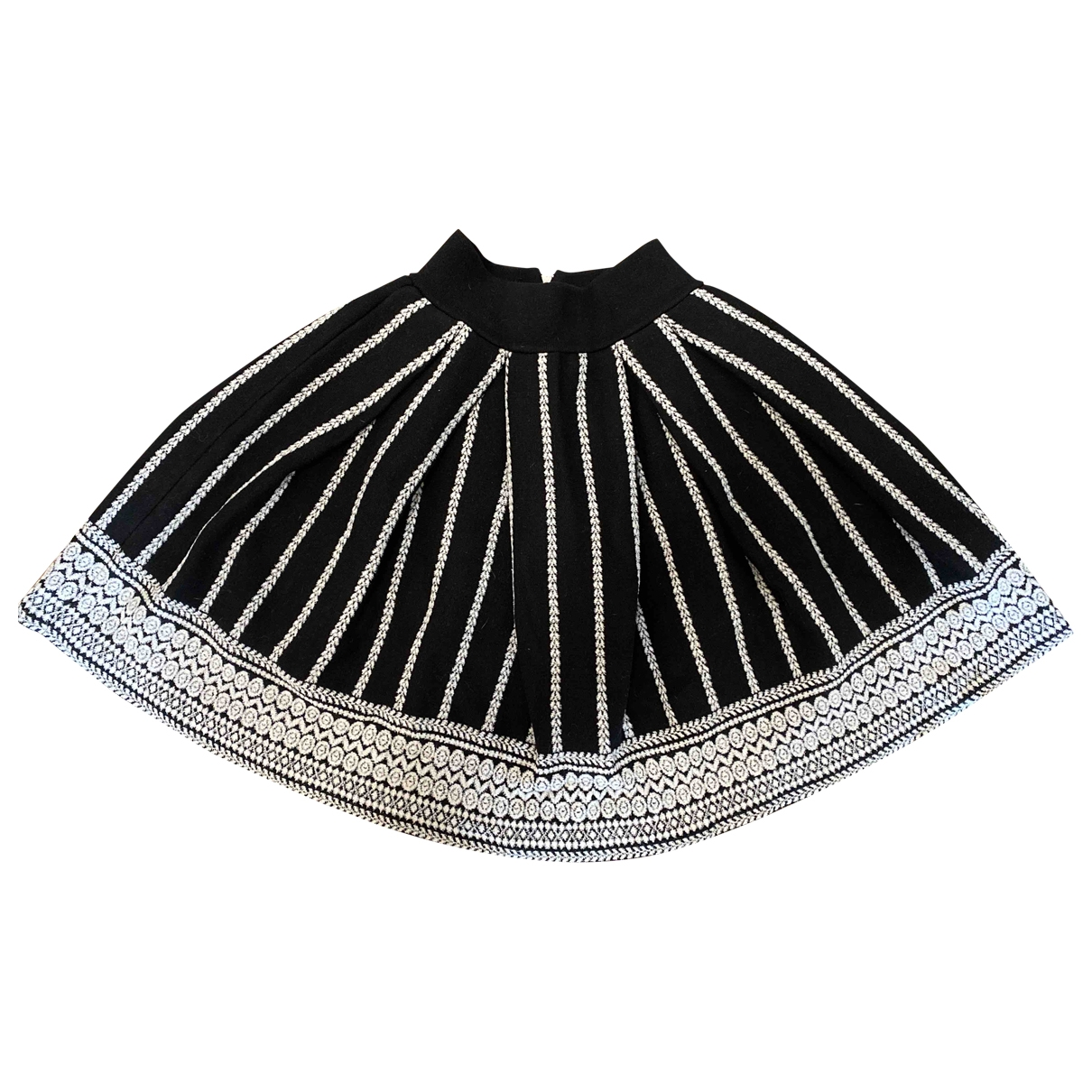 Maje \N Black Cotton skirt for Women 36 FR