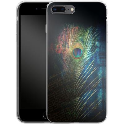 Apple iPhone 7 Plus Silikon Handyhuelle - Peacock Feather von Mark Ashkenazi