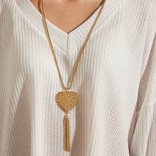 1pc Herz & Quaste Charm Halskette