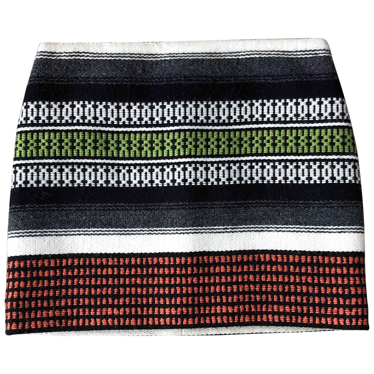 Maje - Jupe   pour femme en laine - multicolore