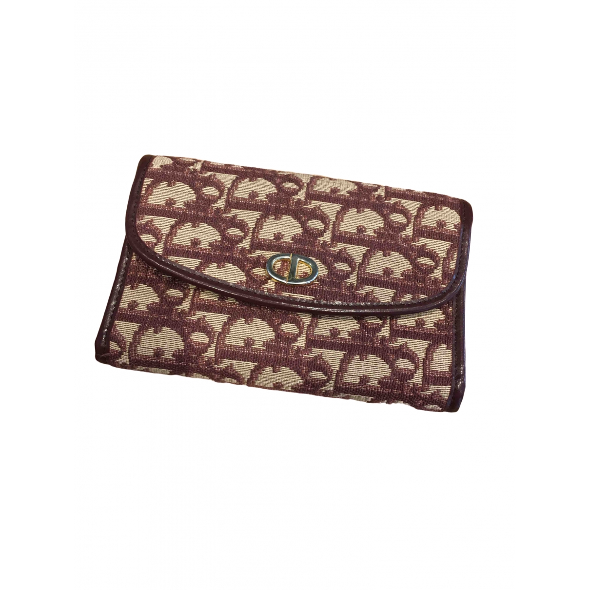 Dior \N Burgundy Cloth wallet for Women \N