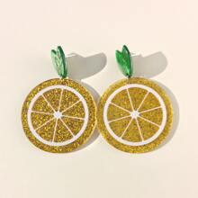 Glitter Fruit Drop Earrings