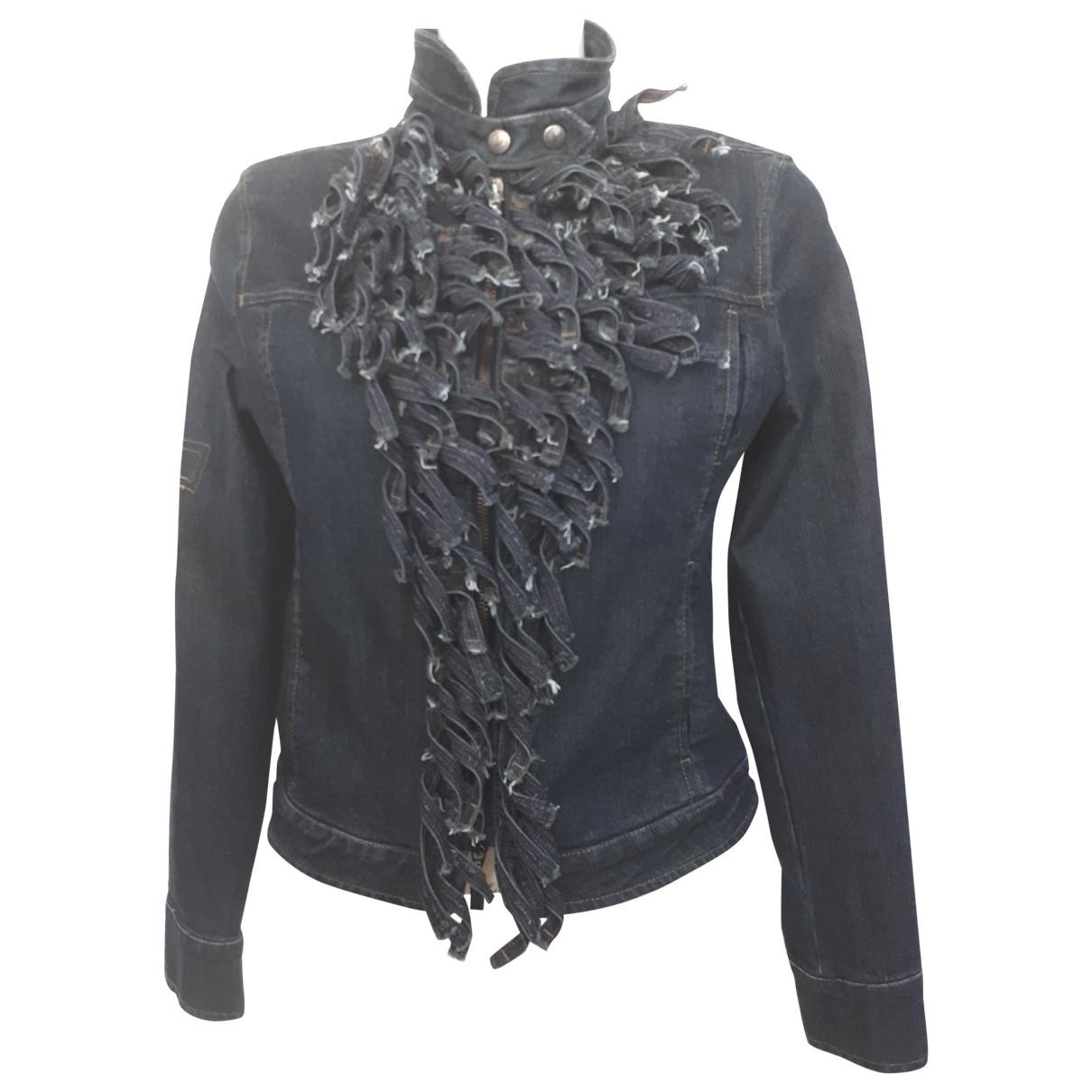 Armani Jeans \N Blue Denim - Jeans jacket for Women 10 UK