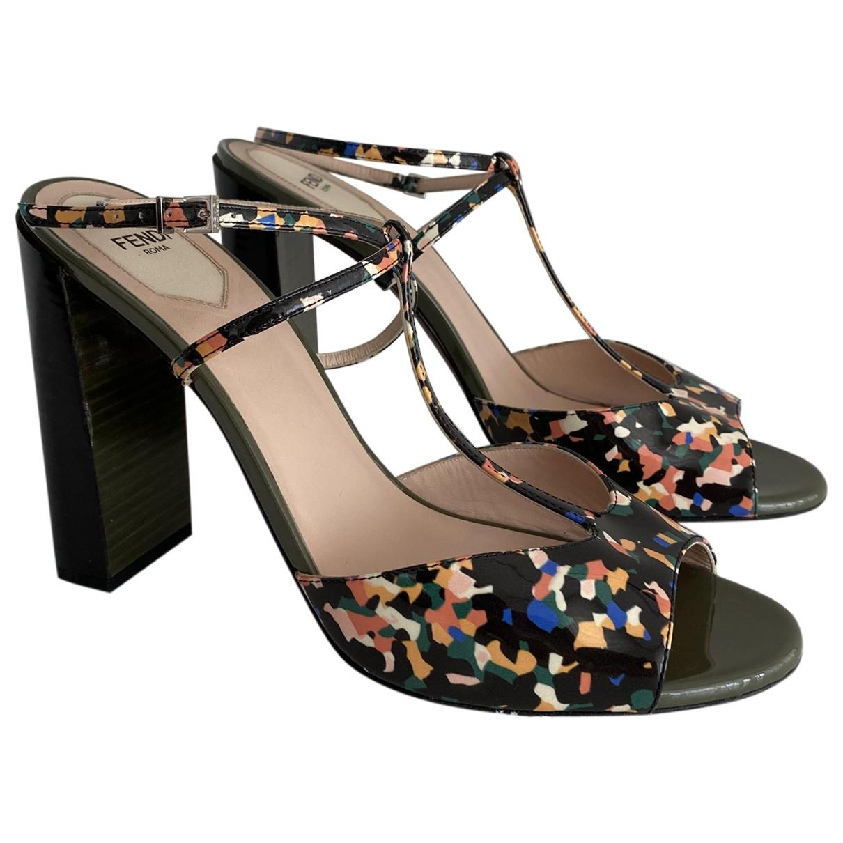 Fendi \N Multicolour Patent leather Sandals for Women 40 EU
