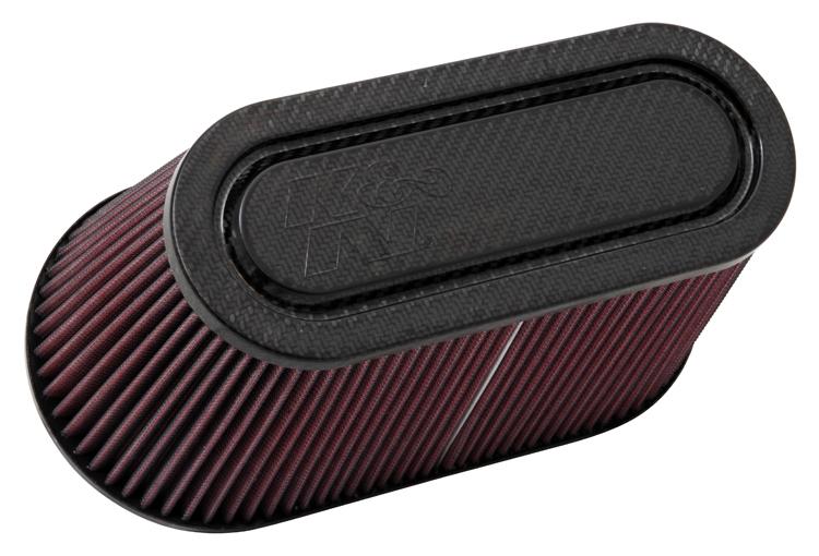 K&N RP-5182 Universal Air Filter - Carbon Fiber Top and Base