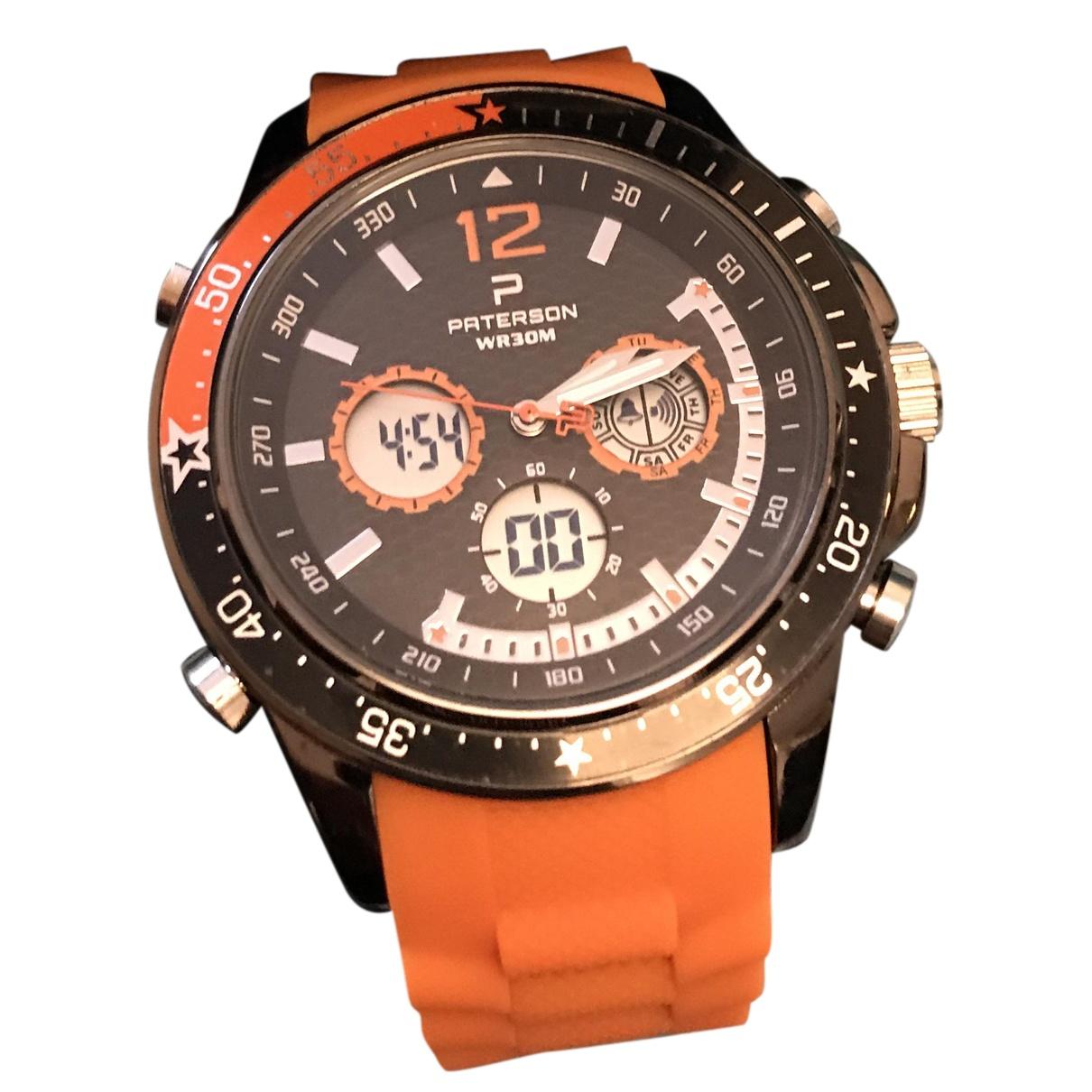 Paterson \N Uhr in  Orange Stahl