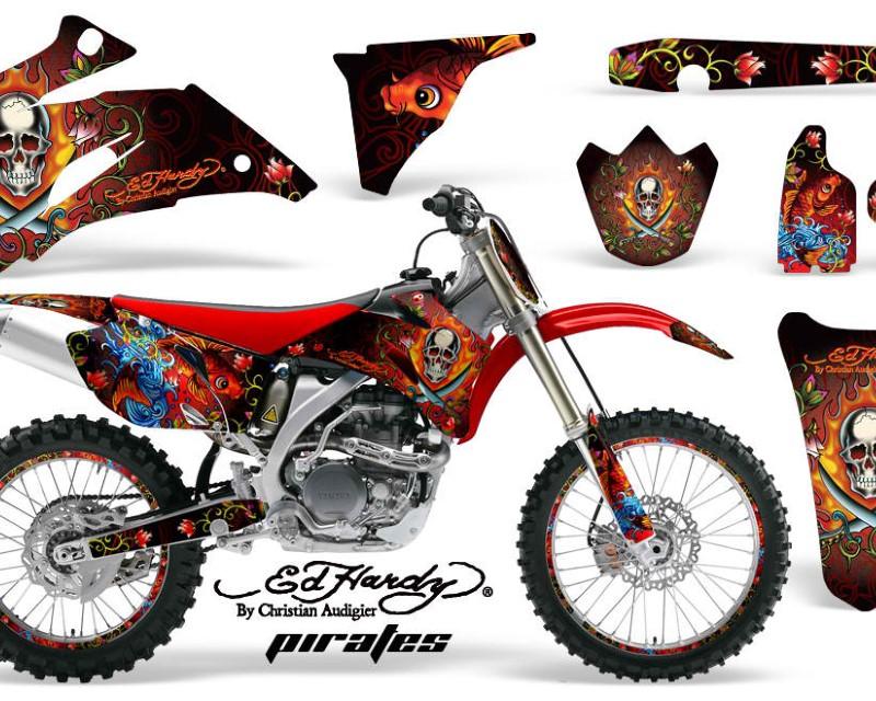 AMR Racing Graphics MX-NP-YAM-YZ250F-YZ450F-06-09-EDHP R Kit Decal Wrap + # Plates For Yamaha YZ250F YZ450F 2006-2009áEDHP RED