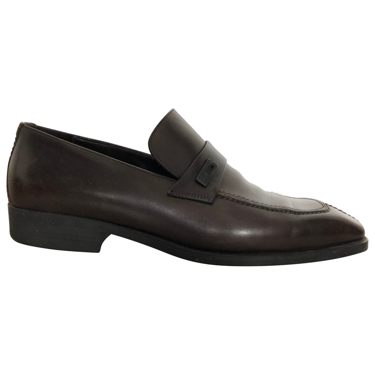 Gucci \N Brown Leather Flats for Men 43 EU