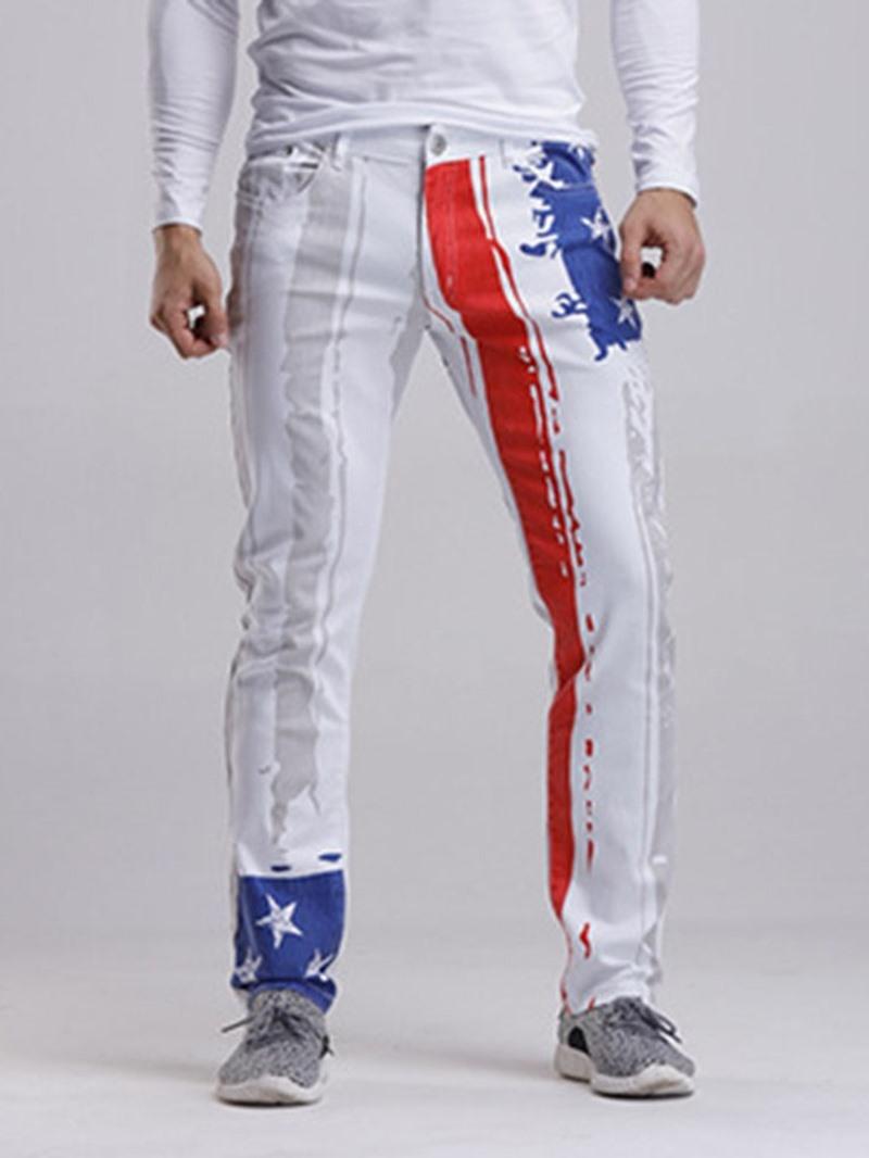 Ericdress African Fashion Dashiki Button Straight Zipper Casual Men's Jeans