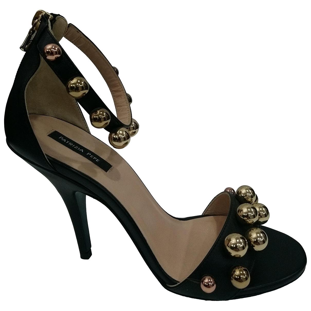 Patrizia Pepe - Sandales   pour femme en cuir - noir