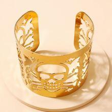Halloween Hollow Out Skull Design Cuff Bracelet