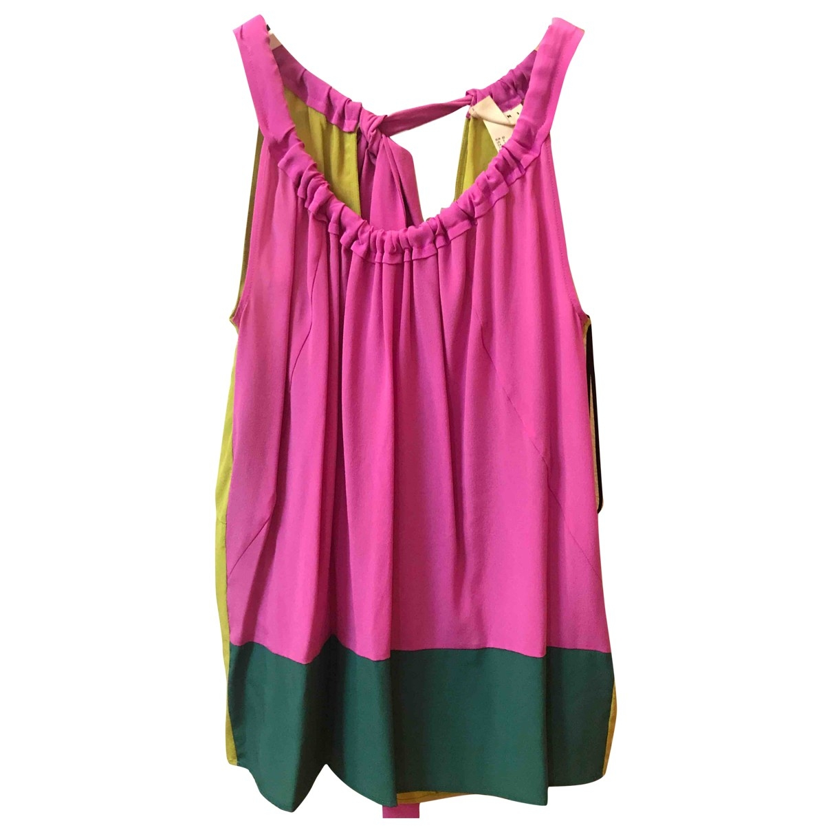 Marni For H&m \N Top in  Bunt Seide