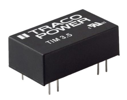 TRACOPOWER TIM 3.5 3.5W Isolated DC-DC Converter Through Hole, Voltage in 18 → 36 V dc, Voltage out 24V dc