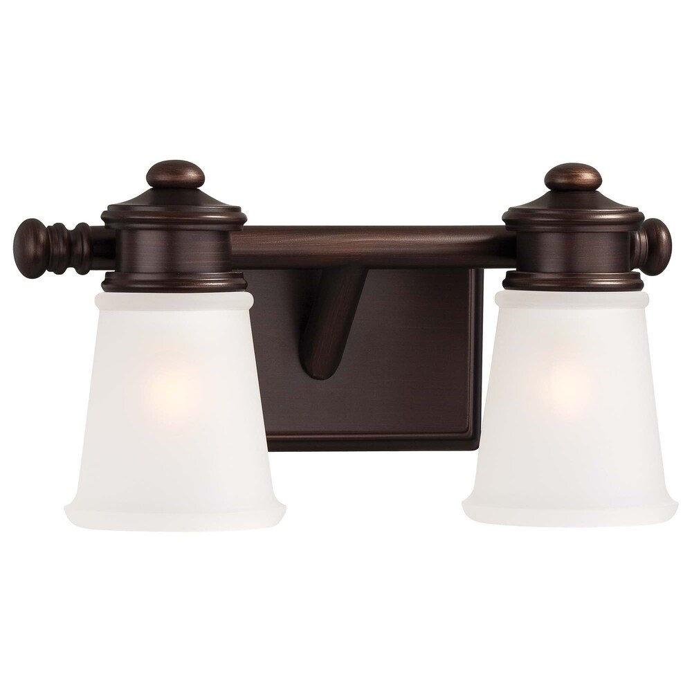 Dark Brushed Bronze (Painted) 2 Light Bath by Minka Lavery