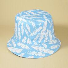 Leaf Pattern Bucket Hat