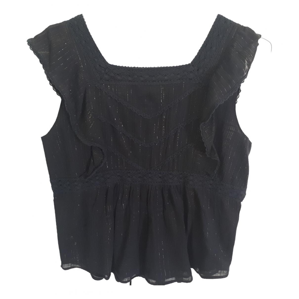 Soeur - Top   pour femme en coton - noir