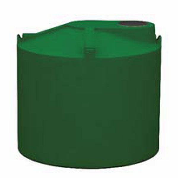 Round Rain Harvest Tank System, 1500 gallon, Green