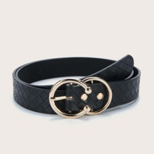 Cinturon con textura geometrica