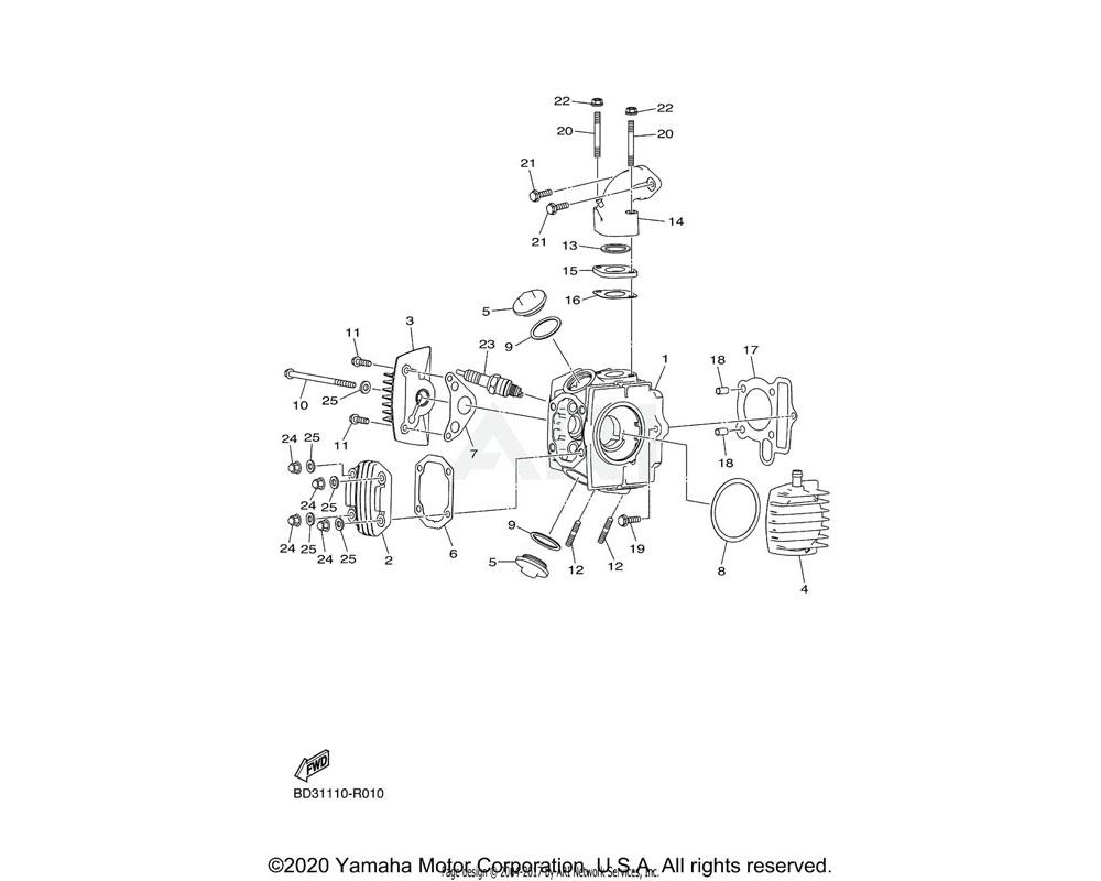 Yamaha OEM BD3-E2615-00-00 BOLT
