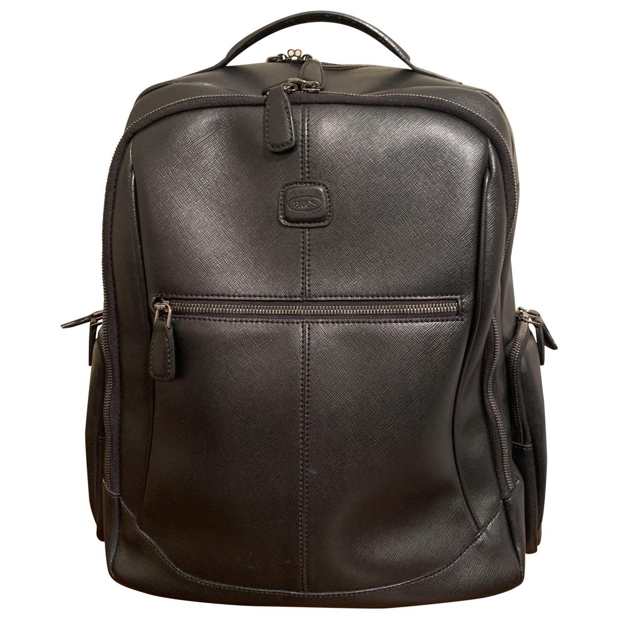 Bric's \N Black Leather bag for Men \N