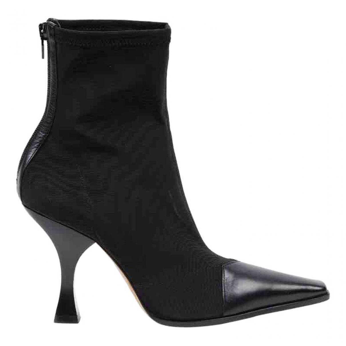 Celine - Boots Madame pour femme en toile - noir