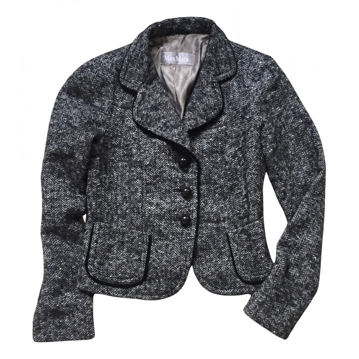 Max Mara - Veste   pour femme en laine - anthracite