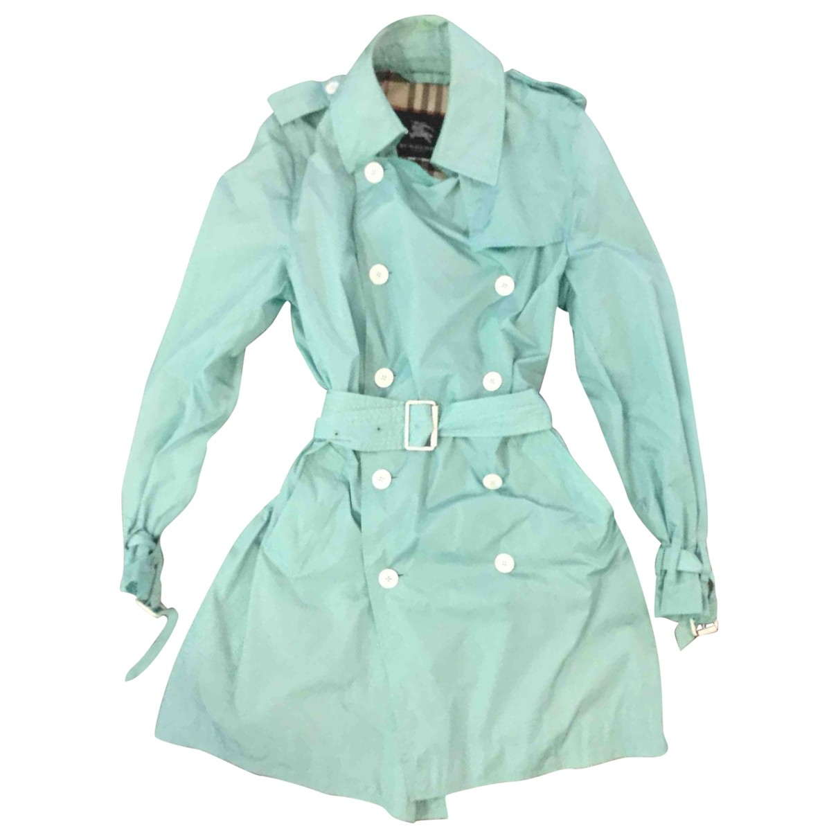 Burberry \N Trench in  Tuerkis Polyester