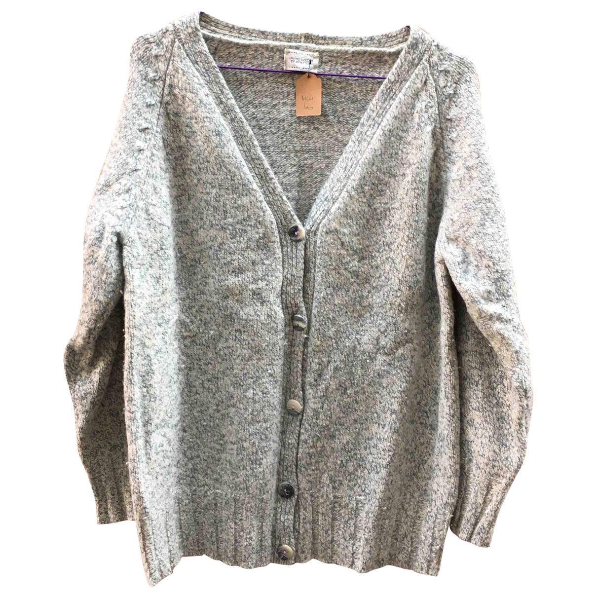 Benetton - Pull   pour femme en laine - gris