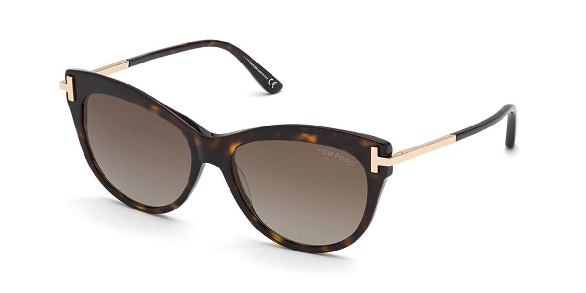 Tom Ford FT0821 KIRA Polarized 52H Women's Sunglasses Tortoise Size 56