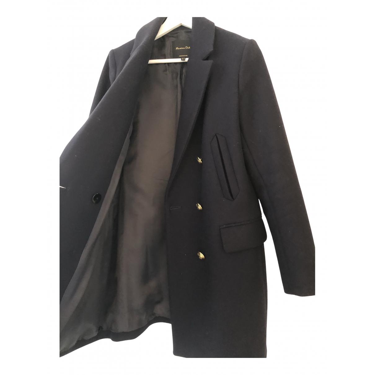 Massimo Dutti \N Jacke in  Marine Wolle