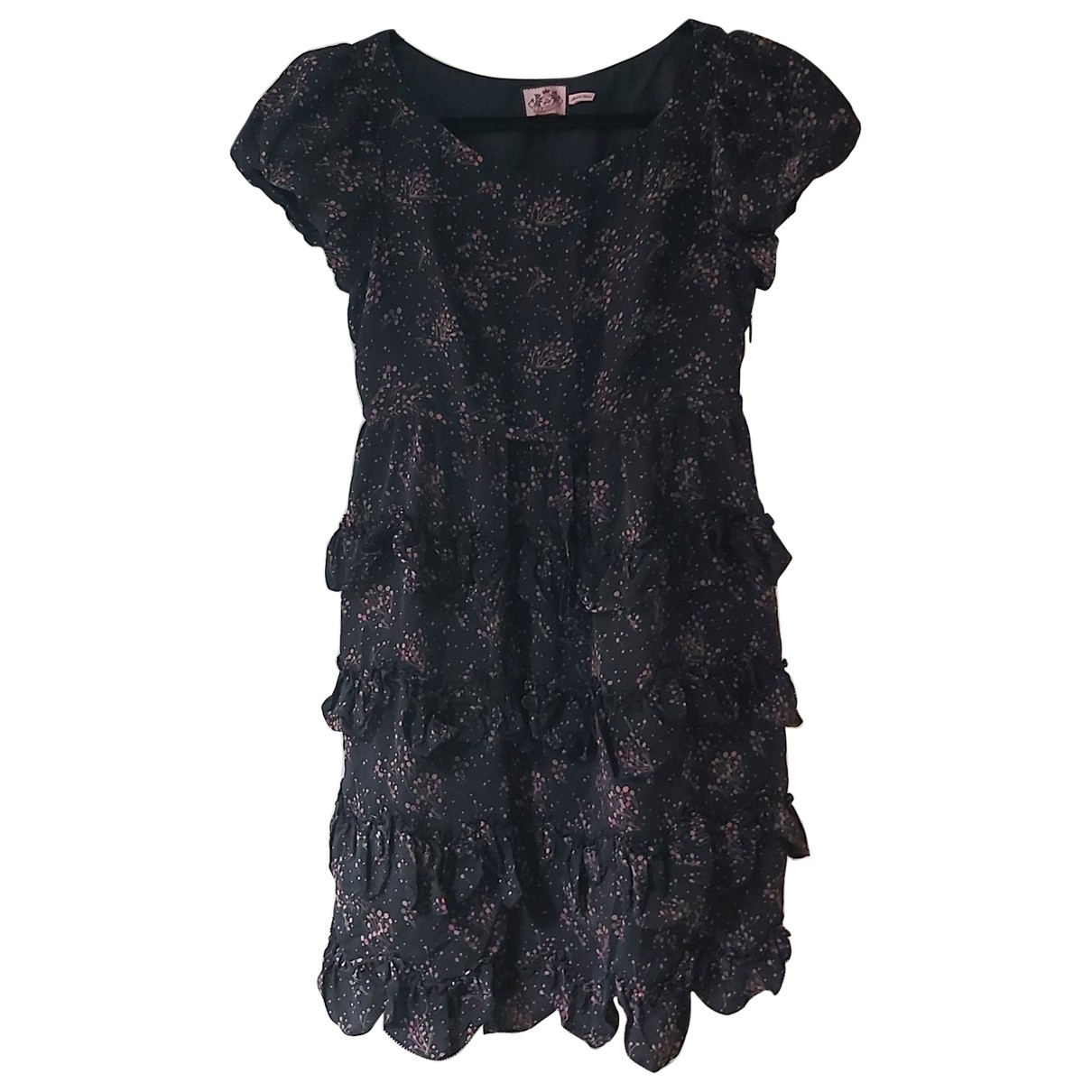 Juicy Couture \N Kleid in  Schwarz Seide