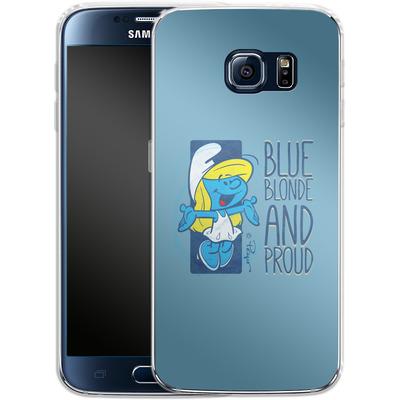 Samsung Galaxy S6 Silikon Handyhuelle - Blue, Blond and Proud von The Smurfs