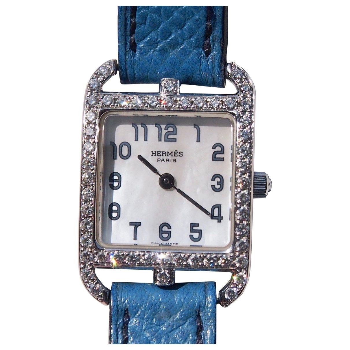 Hermès Cape Cod Diamants Blue White gold watch for Women \N