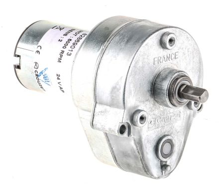 Crouzet , 24 V dc, 2 Nm, Brushed DC Geared Motor, Output Speed 27 rpm