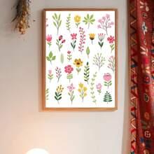Impresion de pared con estampado floral