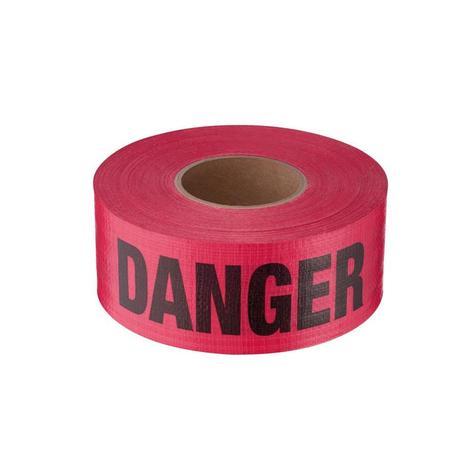 Empire 500 ft. Reinforced Red Barricade Tape - Danger/Peligro