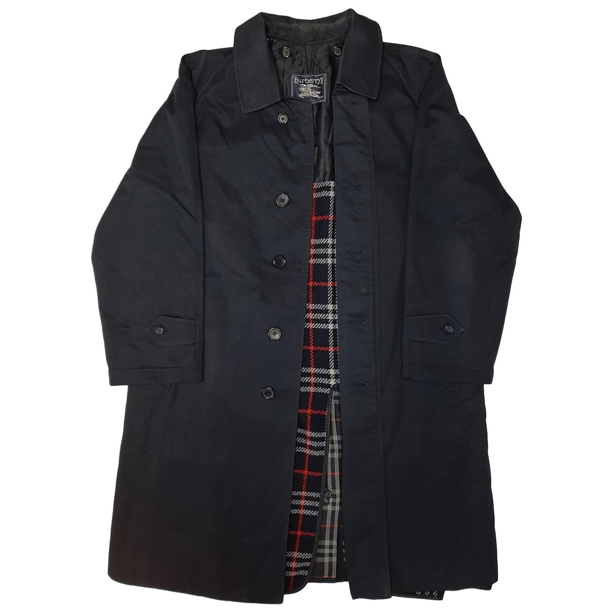 Burberry - Manteau   pour homme en laine - bleu