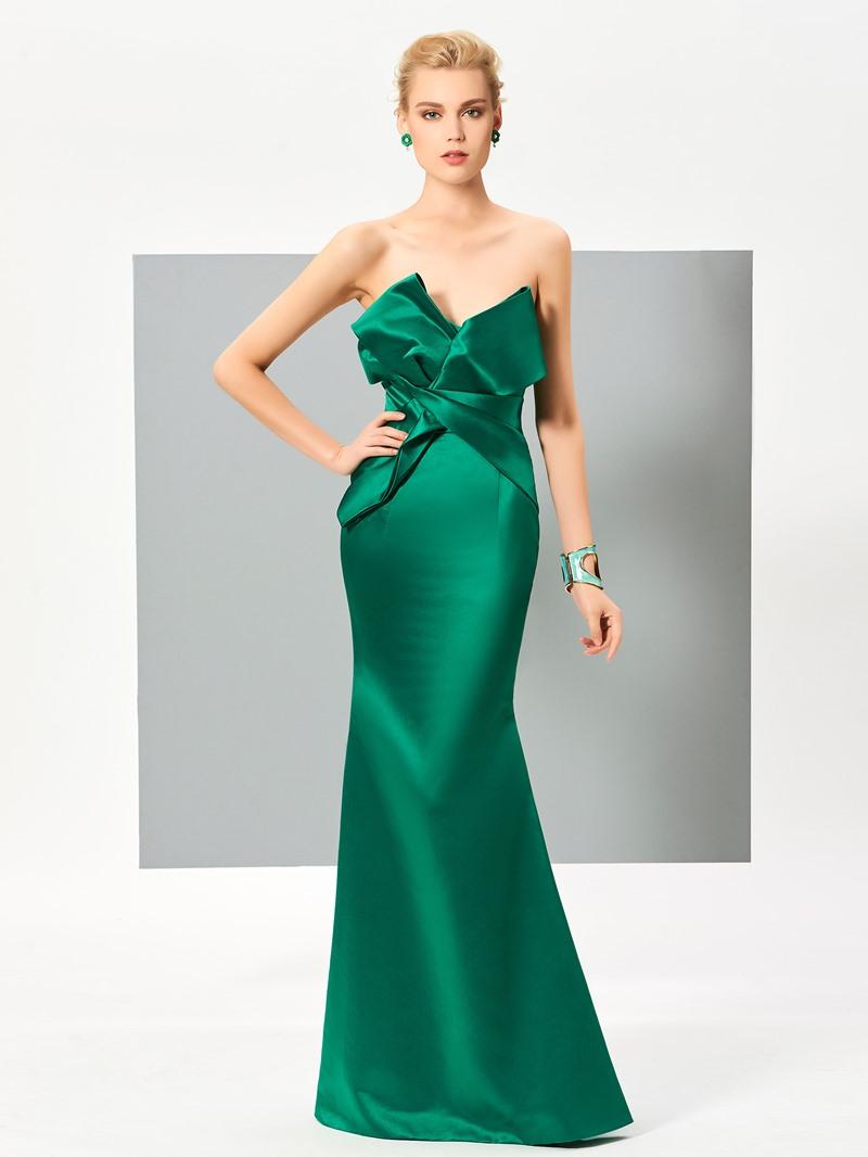 Ericdress Elegant Mermaid Zipper-Up Floor Length Evening Dress