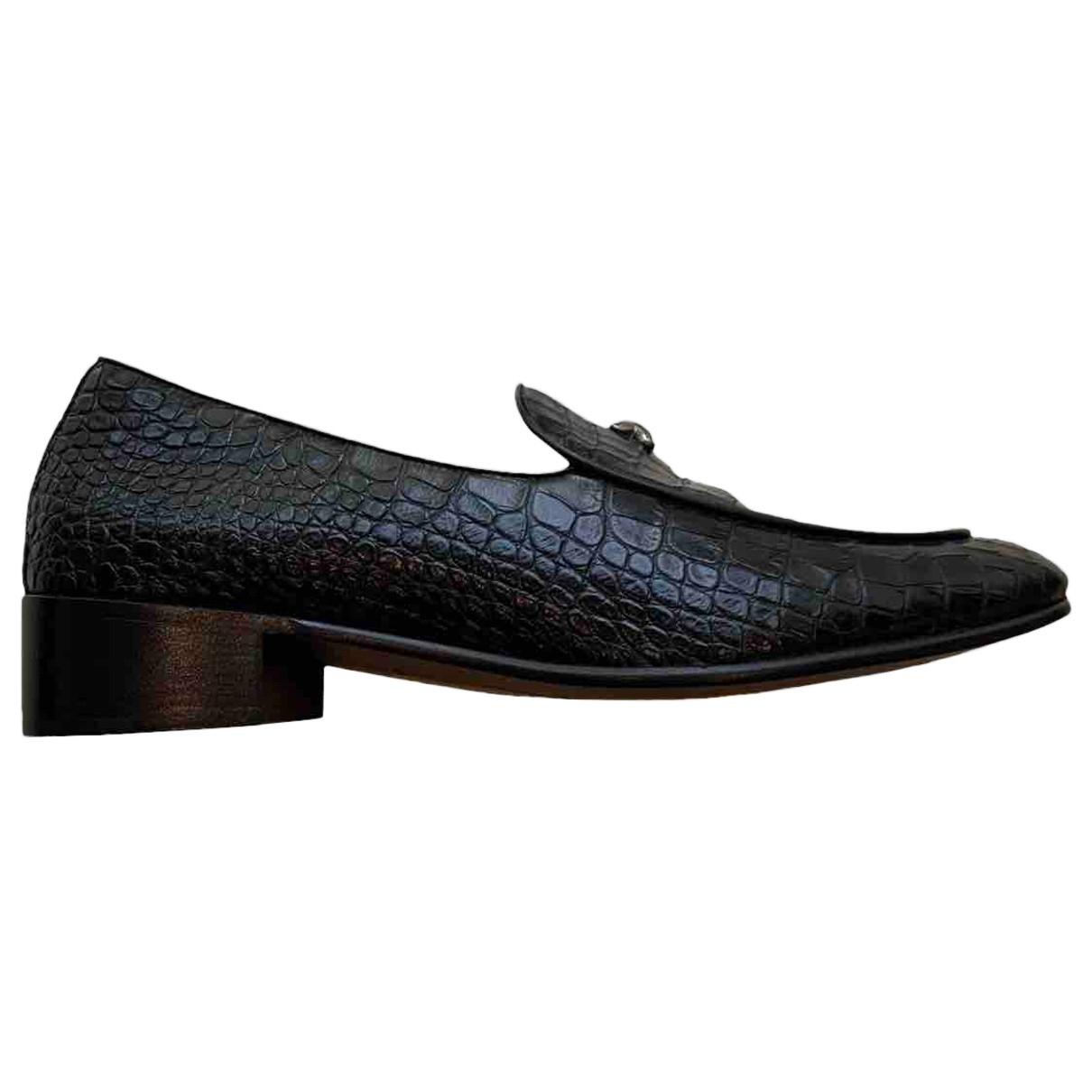 Giuseppe Zanotti \N Black Leather Flats for Men 41.5 EU