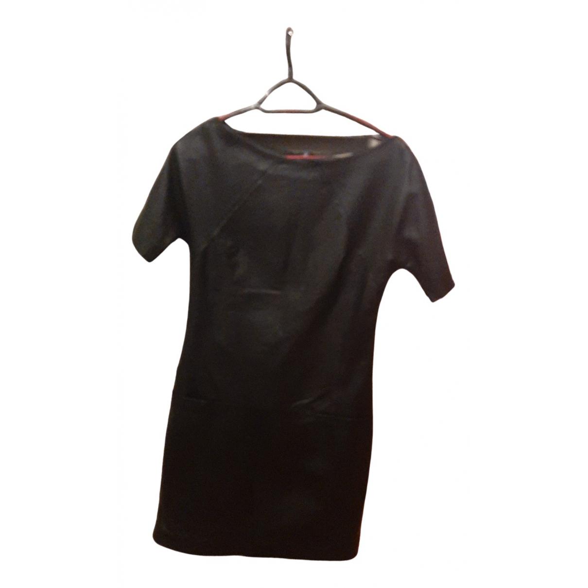 Stefanel \N Kleid in  Schwarz Leder