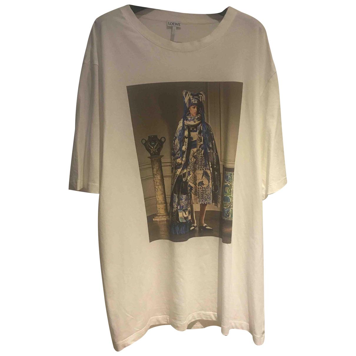 Loewe \N White Cotton T-shirts for Men XL International