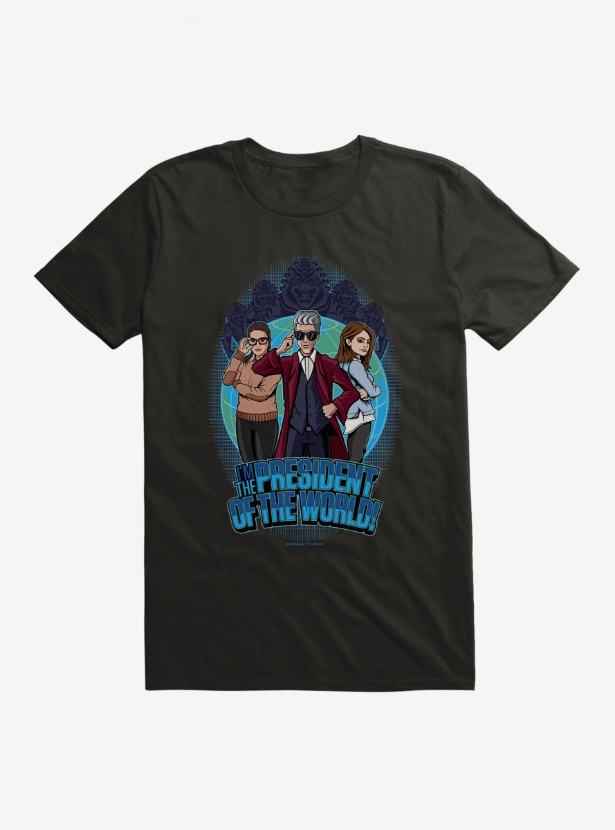 Doctor Who Twelfth Doctor President Of The World Cartoon T-Shirt