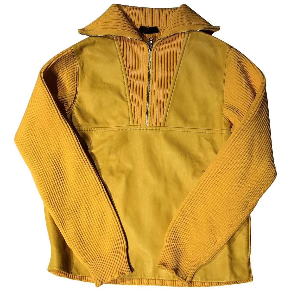 Prada \N Pullover.Westen.Sweatshirts  in  Gelb Leder