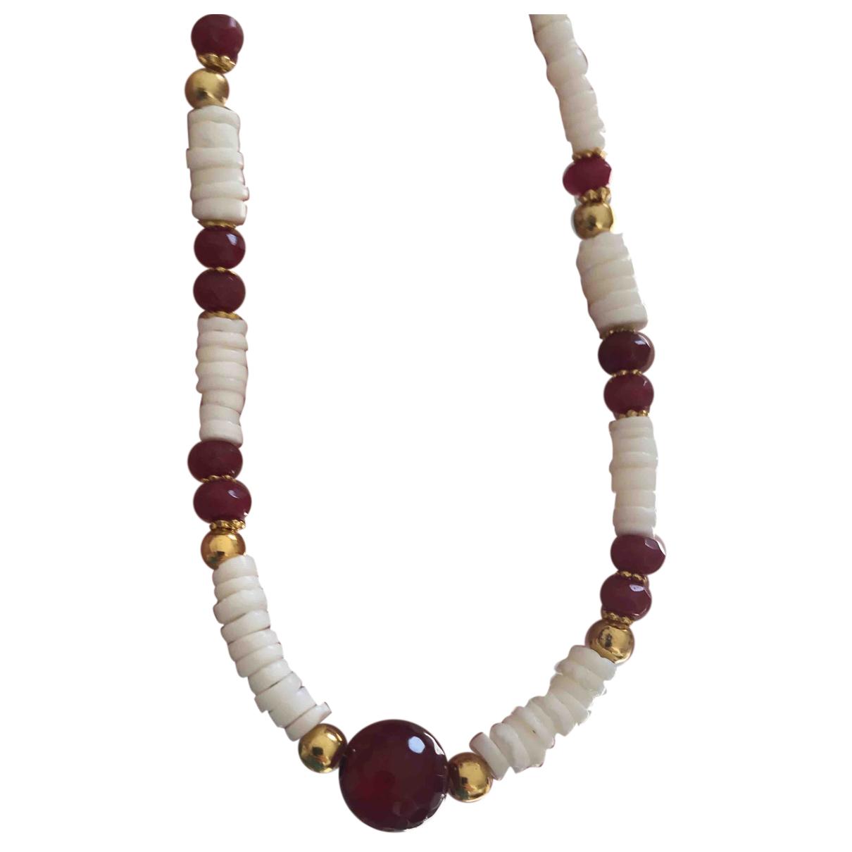 - Collier Rubis pour femme en perles - multicolore
