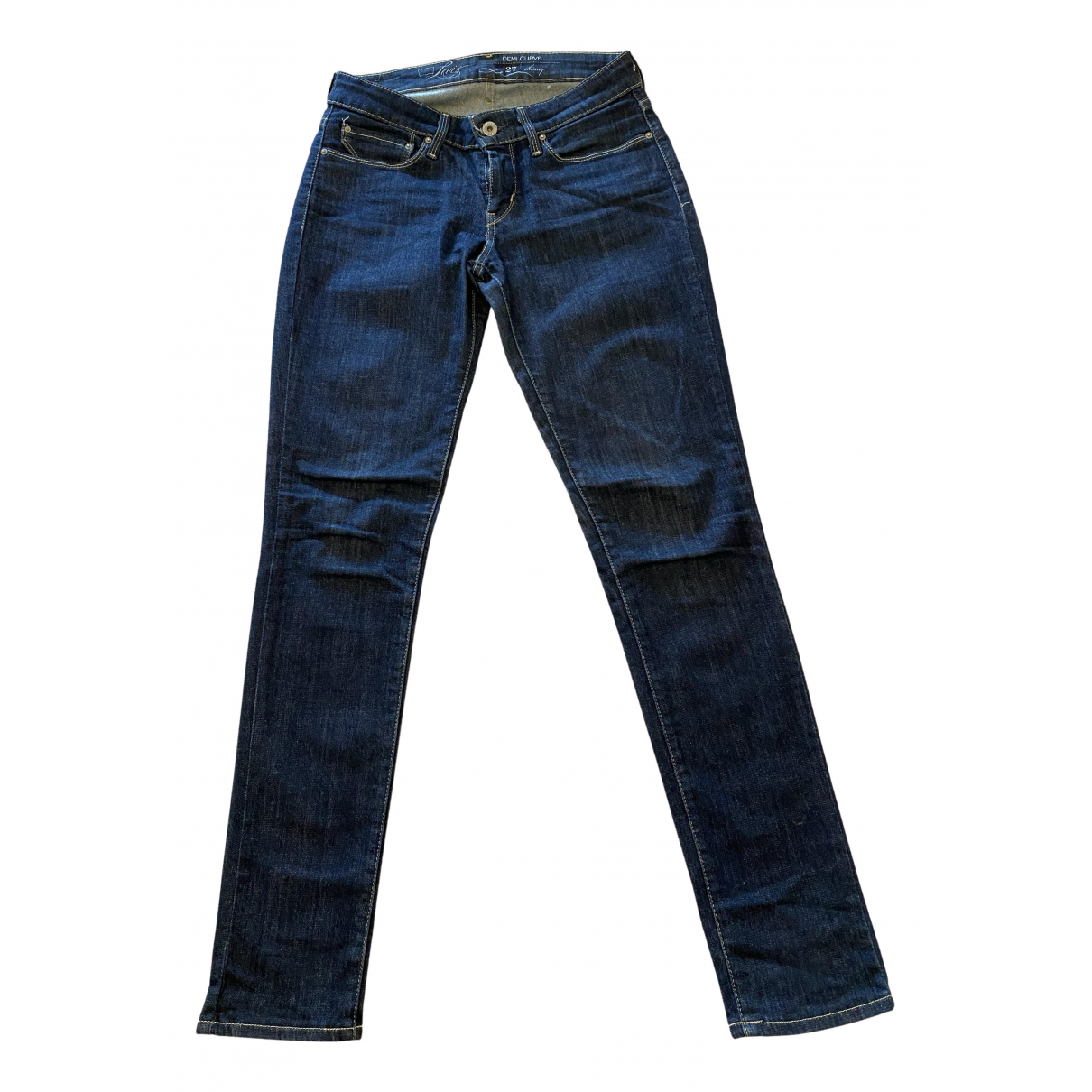 Levi's N Blue Cotton - elasthane Jeans for Women 27 US