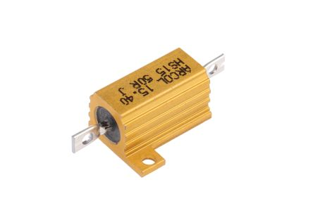Arcol HS15 Series Aluminium Housed Axial Wire Wound Panel Mount Resistor, 50Ω ±5% 15W