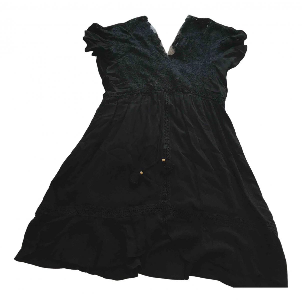 Hale Bob \N Kleid in  Schwarz Viskose
