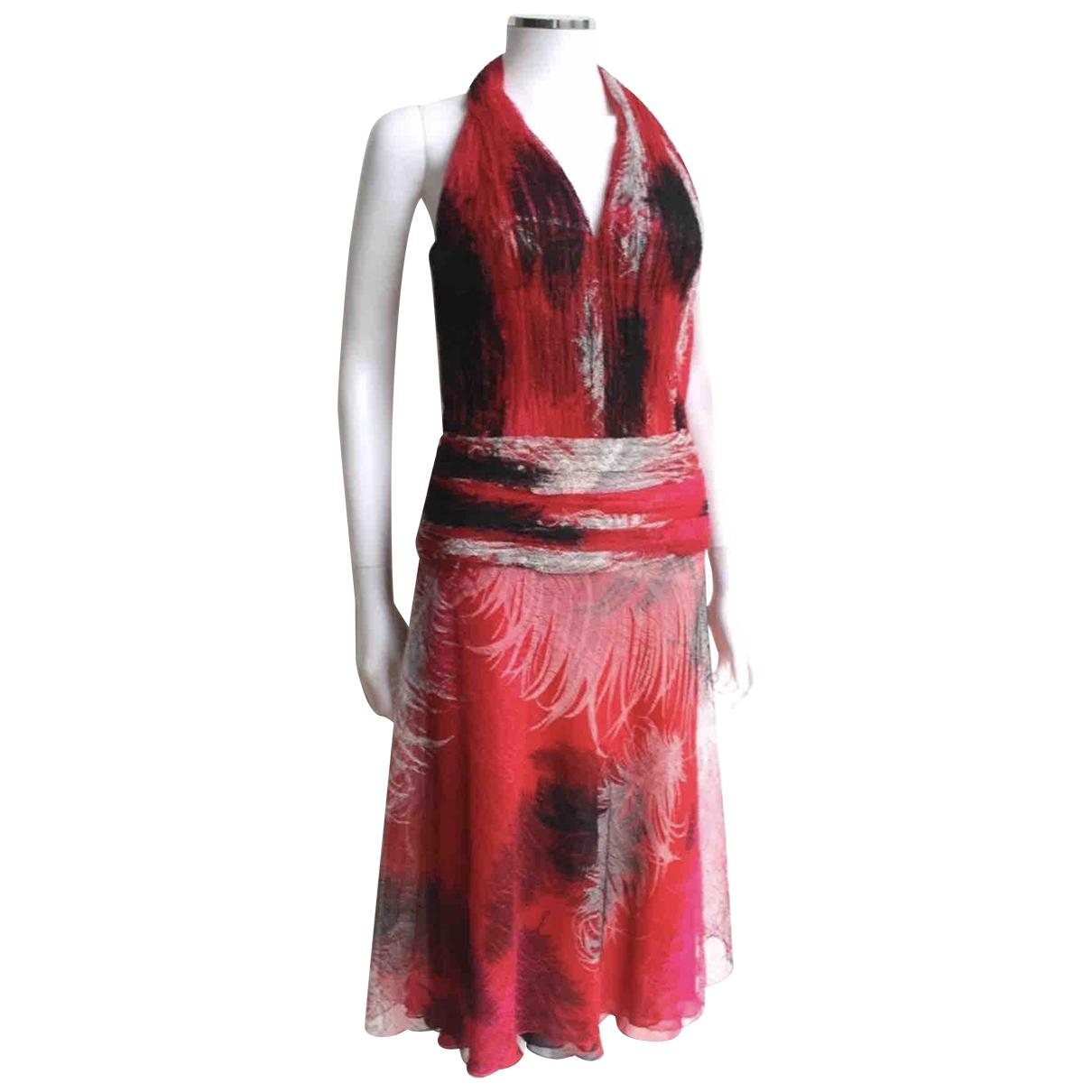 Gianni Versace \N Kleid in  Rot Seide